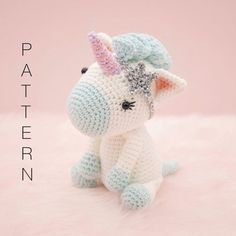 Amigurumi crochet cute unicorn - Aurora the unicorn PATTERN ONLY (English)