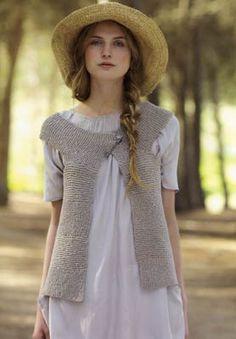 Sleeveless Cardigan Knitting Pattern : 1000+ images about Knitted Sleeveless Tunics and Cardigans on Pinterest Sle...