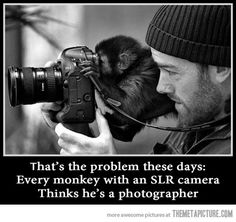 For all of the real photographers I know who spend so much time learning their craft, go to school for it and truly practice their passion. Don't worry, people can tell the difference. Lol!
