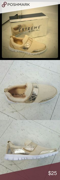 Womens gold casual sneaker size 5 Womens gold casual sneaker size 5 Extreme by Eddie Marc  Shoes Athletic Shoes