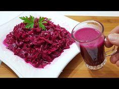 Purple Sauerkraut Recipe Where Restaurants Keep Recipe Like A Secret - Salat Ideen Purple Sauerkraut Recipe, Sauerkraut Recipes, Cabbage Recipes, Roasted Eggplant Dip, Antipasto Skewers, Keep Recipe, Pickled Cabbage, Purple Cabbage, Turkish Recipes