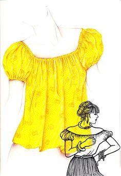 Une blouse très tendance à coudre et très rapide à réaliser : Le cache-coeur Le tee-shirt en soie