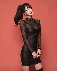 Nice Dresses, Girls Dresses, Pretty Asian Girl, Yu Jin, Korean Dress, Fashion Tights, Asian Fashion, Asian Woman, Dressing
