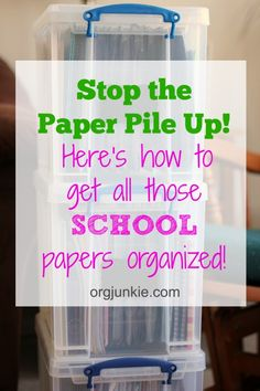 how i organize school papers cleaning pinterest yearly