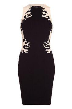 Forever Unique Julie Fitted Dress in Black