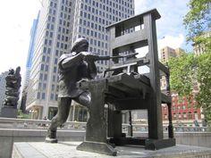 Franklin Printing Press: Philadelphia Public Art