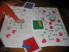 Make your own heart stamps for Valentine's Day - simple and fun!