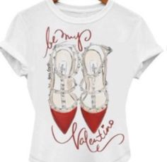Red Heels Valentino Woman T Shirt | eBay