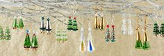 12 Pairs of Easy and Festive Holiday Tree Earrings