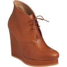 Jil Sander's Chukka platform lace-up wedge boot