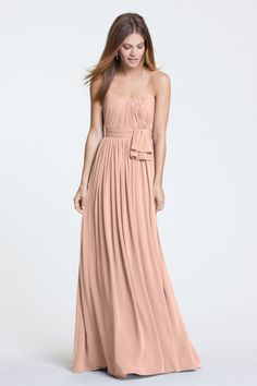 Watters Maids Dress Sally Style 5514 | Watters.com Colors: French Vanilla, Buff, or Peach