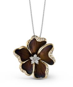Beautiful Simon G. organic diamond pendant. Available at J. Lewis Jewelry in Bellevue, Washington. Call us today to purchase  (425) 455-2204 or also available for online shoppers at: www.jlewisjewelry.com