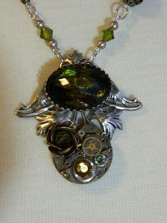 OLIVETTE - Steampunk Necklace by Christina Davis. $50.00, via Etsy.