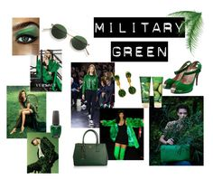 A fashion look from March 2016 featuring green pumps, handbag purse and earring jewelry. Browse and shop related looks. Green Pumps, Military Green, Acne Studios, Opi, Cartier, Versace, Prada, Christian Louboutin, Polyvore
