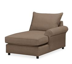 PB Comfort Roll Arm Upholstered Right Arm Chaise, Knife Edge DB Cushions, Vintage Velvet Cafe