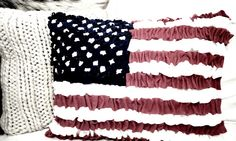 Felt American flag cushion made without sewing - By Twigg Studios