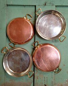 Vintage Waldow Copper Four 4 Individual Au Gratin Pans by 4Good4Good, $399.00