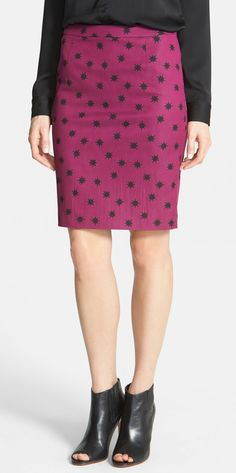 Halogen(R) Print Pencil Skirt