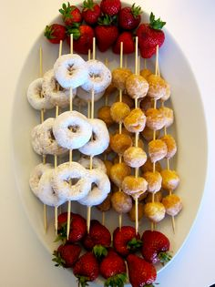 Donut skewers-cute for morning staff meeting