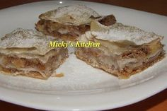 Placinta cu mere si nuca - de post, Rețetă Petitchef Romanian Food, French Toast, Food And Drink, Traditional, Breakfast, Desserts, Recipes, Garden, Morning Coffee