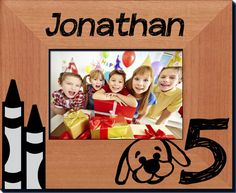 5th Birthday Picture Frame - Always FREE laser engraving. Create your own picture frame! - Starting at only $29.99