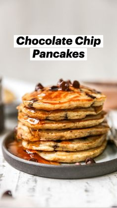 Breakfast Pancakes, Breakfast Items, Pancakes And Waffles, Sweet Breakfast, Breakfast Recipes, Banana Pancakes, Yummy Pancake Recipe, Yummy Food, Pancake Recipes
