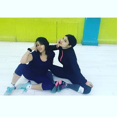 """imouniroy: """"Rehearsals with with my darl @sadnaminhas before some all day siesta; errr;  shoot madness  #myhappyplace"""""""