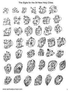 Sigils for the 54 New Holy Cities 1