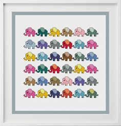 baby elephant cross stitch chart totally templates