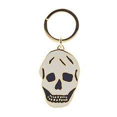 Skull Keyring by Alexander McQueen - Black/White   £65.00