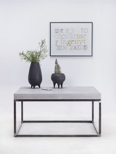 stolik kawowy MONO K80 materiały: beton + stal   #beton #design #coffeetable #furniture #stolik kawowy Concrete Coffee Table, Coffee Tables, Stylish Coffee Table, Number Stamps, Space Interiors, Classic Interior, Industrial Interiors, Work Tops, Scandinavian Style