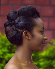 Natural hair updo ideas for black women - June 08 2019 at African Hairstyles, Afro Hairstyles, Black Women Hairstyles, Wedding Hairstyles, Beautiful Hairstyles, Natural Black Hairstyles, Quinceanera Hairstyles, Wedding Updo, Pelo Natural