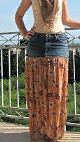 Tutorial - How to Make a Jean Gypsy Skirt - gypsy, jean, skirt, tutorial