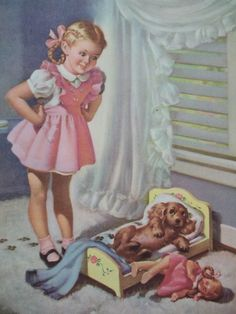 cockers were #1 dog in the 50's when I was a girl this age... no wonder I have a thing for blonde cockers since I had one (Sugar)...