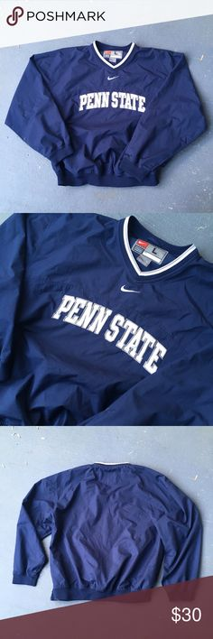 Navy blue and white penn state Nike Windbreaker Navy blue and white nike  penn state Windbreaker 01e67d17b