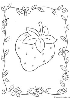 Image detail for -Big strawberry coloring page - STRAWBERRY SHORTCAKE coloring pages