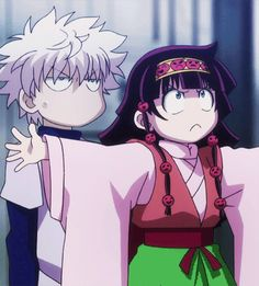 Cuando Alluka intenta defender a Killua de la.formas más tierna posible. Killua y Alluka. Hunterxhunter