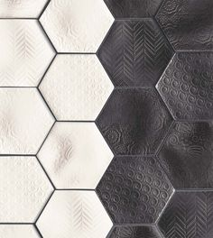 Natucer klinker Caprice Hexagono Notte – Ceramic and mosaic tiles EU Design 3d, Floor Design, Tile Design, Hexagon Tiles, Mosaic Tiles, Tiling, Tile Patterns, Textures Patterns, Tiles Texture