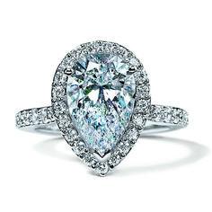 Pear Shaped Diamond in a diamond Halo Engagement ring -R449133 #diamond #engagement #ring #jewelry #NYJChicago