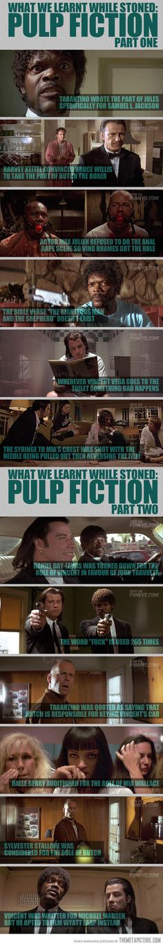 Funny pictures about Pulp Fiction Facts. Oh, and cool pics about Pulp Fiction Facts. Also, Pulp Fiction Facts. Pulp Fiction, Fiction Movies, Quentin Tarantino Films, Reservoir Dogs, Movie Facts, Film Serie, Serge Gainsbourg, Cultura Pop, Series Movies