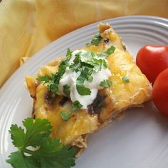 "Quick and Easy Green Chile Chicken Enchilada Casserole | ""Excellent recipe. I served this tonight for dinner and my family loved it."""