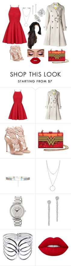 """""""out"""" by phff-tumblr on Polyvore featuring Chi Chi, Moschino, Botkier, MICHAEL Michael Kors, Bloomingdale's, Wet Seal and Lime Crime"""
