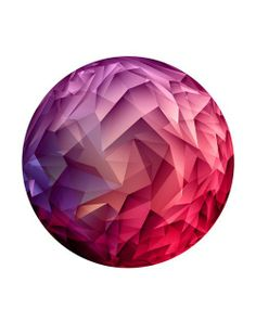 Modern. Abstract. Circle. Parts. Sharp. Dimond. Forms. Design. Collage. Red & Pink. Colorful. Background. White. Simple. Clean. Cut. Art. Illustration. Beauty.