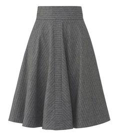 Mette Møller - W73 Wimsy Skirt (grey strip)