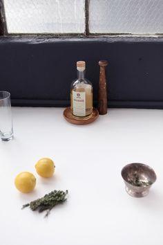 Tiller's Tonic: RHURBARB Tea, tonic, bitters, your choice of herbs