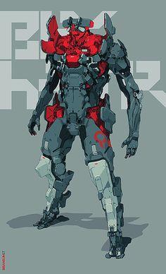 Portfolio site of Brian Sum. Concept artist for videogames and film. Arte Ninja, Arte Robot, Robot Concept Art, Armor Concept, Character Concept, Character Art, Mode Cyberpunk, Sci Fi Armor, Robot Design