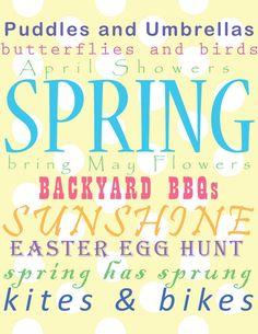 Free spring Printable :)