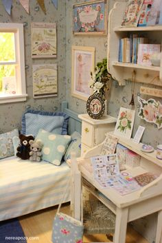 "Nerea Pozo Art: DIORAMA "" SWEET WINTER "" Bedroom"