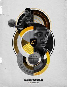Sports design Crazy for Cavs by Blaine Fridrick, via Behance