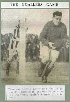 Gillingham 0 Brentford  0 in March 1922 at Priestfield Stadium. Action from the 3rd Division game.